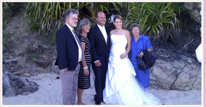 wedding ceremony at north nobby beach miami gold coast Queensland