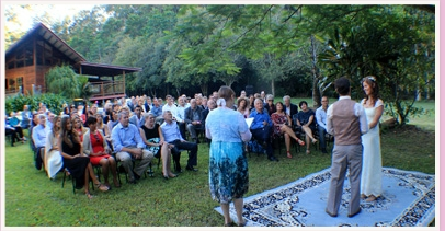 wedding ceremony at Kohinur Hall North Main Arm Mullumbimby New South Wales