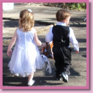 cute flowergirl and pageboy